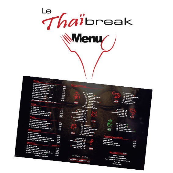 creation graphique Carte menu Thai Break